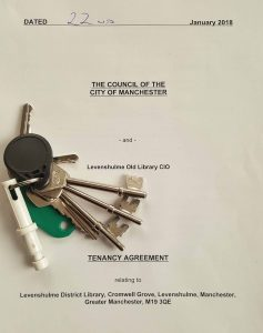 tenancy agreement between the old library group and MCC