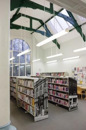 The main room as a library