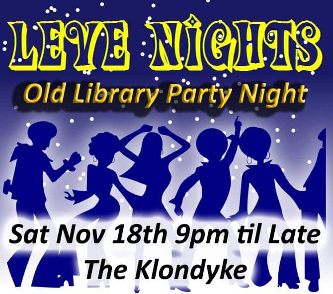 leve nights library party poster