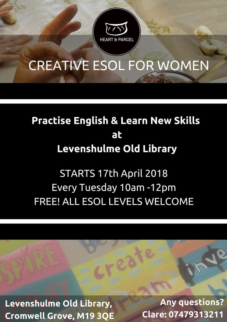 Heart and Parcel - Creative ESOL for Women @ Levenshulme Old Library   England   United Kingdom