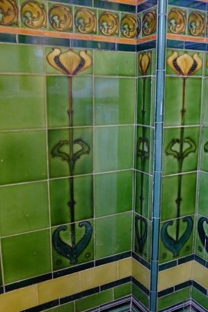 original tiles in doorway