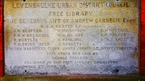 levy old library commemorative stone